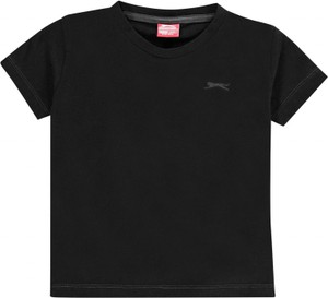 Czarna koszulka dziecięca Slazenger