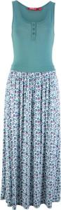Niebieska sukienka bonprix John Baner JEANSWEAR z okrągłym dekoltem maxi