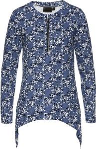 Niebieska bluzka bonprix z okrągłym dekoltem