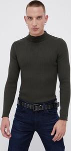 Sweter Brave Soul w stylu casual z bawełny z golfem
