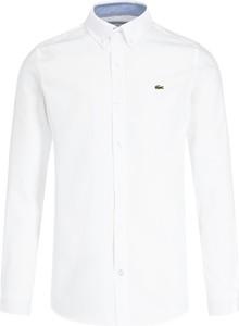 Koszula Lacoste z kołnierzykiem button down z długim rękawem