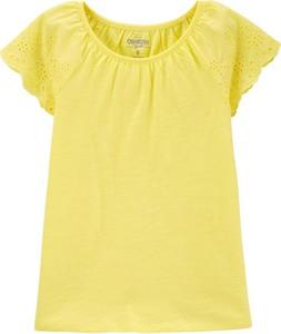 Żółta koszulka dziecięca OshKosh z bawełny