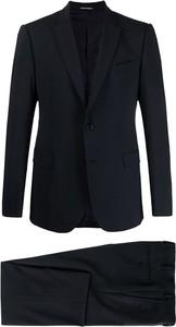 Niebieski garnitur Emporio Armani z wełny