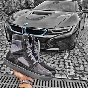 Brązowe buty zimowe Duuf sznurowane