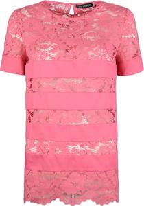 Bluzka ubierzsie.com z okrągłym dekoltem w stylu casual z krótkim rękawem