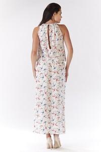 Sukienka Awama bez rękawów w stylu casual prosta