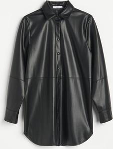 Czarna koszula Reserved ze skóry