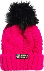 Różowa czapka Superdry