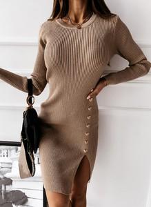 Sukienka Sandbella w stylu casual midi z okrągłym dekoltem