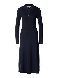 Granatowa sukienka Tommy Hilfiger w stylu casual z długim rękawem