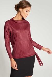 Czerwona bluzka QUIOSQUE z długim rękawem