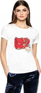 T-shirt L'AF w młodzieżowym stylu z okrągłym dekoltem