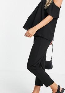 ASOS DESIGN Maternity – Czarne spodnie typu peg z tkaniny ponte z zaszewkami-Black
