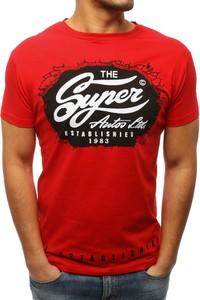 Czerwony t-shirt Dstreet z krótkim rękawem