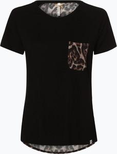 Czarny t-shirt Key Largo z krótkim rękawem z okrągłym dekoltem w młodzieżowym stylu
