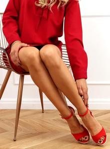 Sandały Buty Damskie na platformie z tkaniny