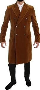 Brązowy płaszcz męski Dolce & Gabbana