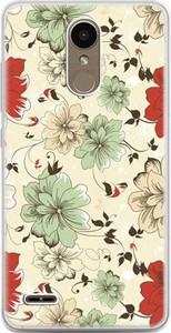 Etuistudio Etui na telefon LG K10 2017 - zielone kwiaty