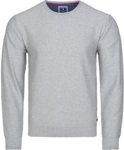 Sweter Redmond w stylu casual z okrągłym dekoltem