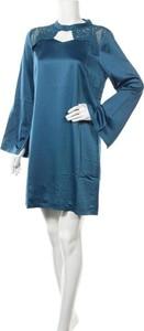 Sukienka Zibi London mini z okrągłym dekoltem z długim rękawem