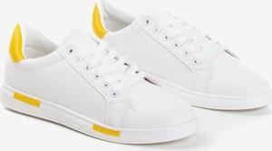 Royalfashion.pl Biało-żółte tenisówki męskie Tanami - Obuwie