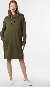 Zielona sukienka comma, w stylu casual z długim rękawem