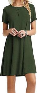 Zielona sukienka Arilook w stylu casual mini z dresówki