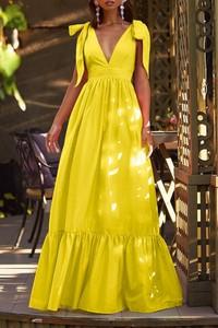 Żółta sukienka IVET maxi