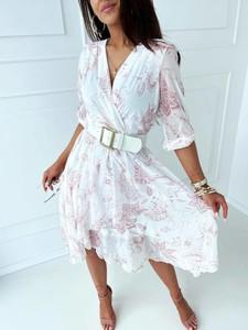 Sukienka Versada z dekoltem w kształcie litery v w stylu casual midi
