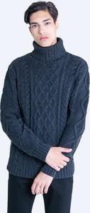 Niebieski sweter Big Star z wełny
