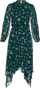 Sukienka bonprix z szyfonu z długim rękawem