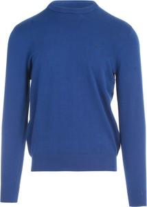 Niebieski sweter Emporio Armani w stylu casual z wełny