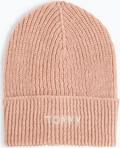 Różowa czapka Tommy Hilfiger w stylu casual