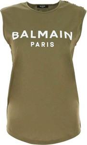 T-shirt Balmain w młodzieżowym stylu z bawełny