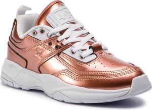 Różowe buty sportowe DC Shoes sznurowane
