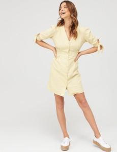 Sukienka V by Very z lnu mini