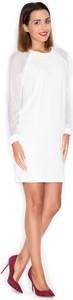Sukienka Katrus z bawełny z okrągłym dekoltem