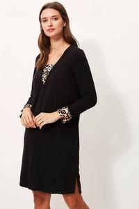 Czarna sukienka Sandro Ferrone prosta mini