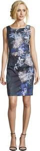 Granatowa sukienka Vera Mont prosta mini