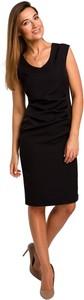Czarna sukienka Style bez rękawów z dekoltem w kształcie litery v
