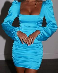 Niebieska sukienka Kendallme dopasowana w stylu casual mini