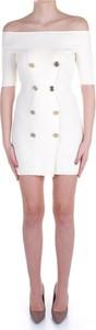 Sukienka Elisabetta Franchi w stylu casual z okrągłym dekoltem z krótkim rękawem