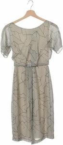 Sukienka Fever z okrągłym dekoltem z krótkim rękawem w stylu casual
