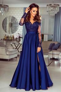 Niebieska sukienka Emo Sukienki maxi