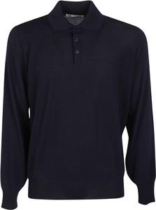 Niebieska koszulka z długim rękawem Brunello Cucinelli z długim rękawem