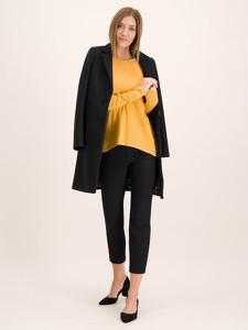 Żółta bluzka Marc O'Polo w stylu casual z długim rękawem z okrągłym dekoltem