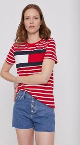 T-shirt Tommy Hilfiger z krótkim rękawem z bawełny w stylu casual