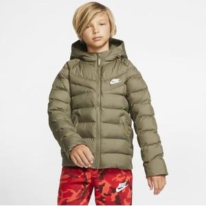 Zielona kurtka dziecięca Nike dla chłopców