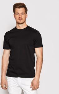 Czarny t-shirt Baldessarini w stylu casual z krótkim rękawem