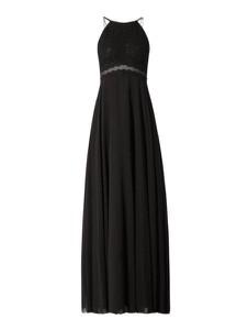 Czarna sukienka Jake*s Cocktail z dekoltem w kształcie litery v bez rękawów z satyny